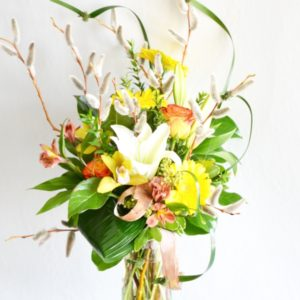 Burst of spring - lillies, orchids, roses, willows